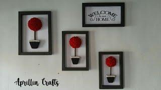 diy room decor from felt || hiasan dinding minimalis dari kain flanel