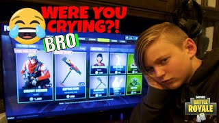 MEAN FORTNITE *PRANK* ON MY BROTHER