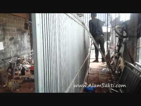 Pembuatan Pintu Pagar Besi Minimalis | Bengkel Las Tangerang