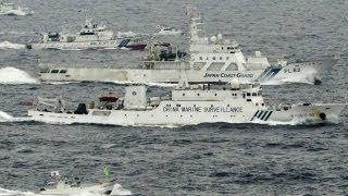 Tàu Nhật và TQ bám nhau ở biển Hoa Đông