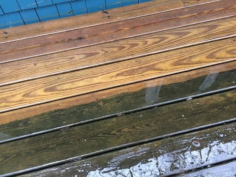 Cleaning a Deck with Oxygen Bleach