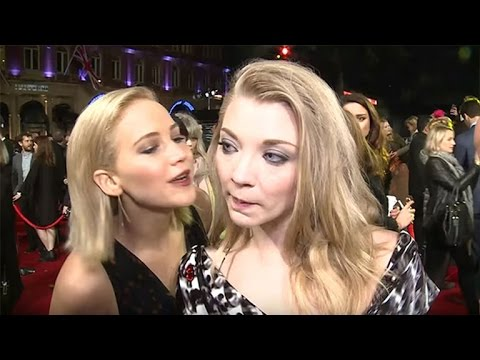 Oops! Jennifer Lawrence Accidently Kisses Her Hunger Games CoStar Natalie Dormer
