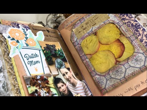 Pressed flower window tag : Junk journal with me | I'm A Cool Mom