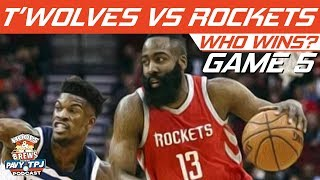 Houston Rockets vs Minnesota Timberwolves | Game 5 | Who will win ? | Hoops N Brews