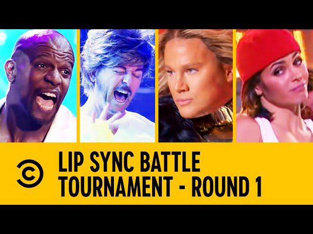 Channing Tatum VS Terry Crews VS David Spade VS Jenna Dewan | Lip Sync Battle Tournament
