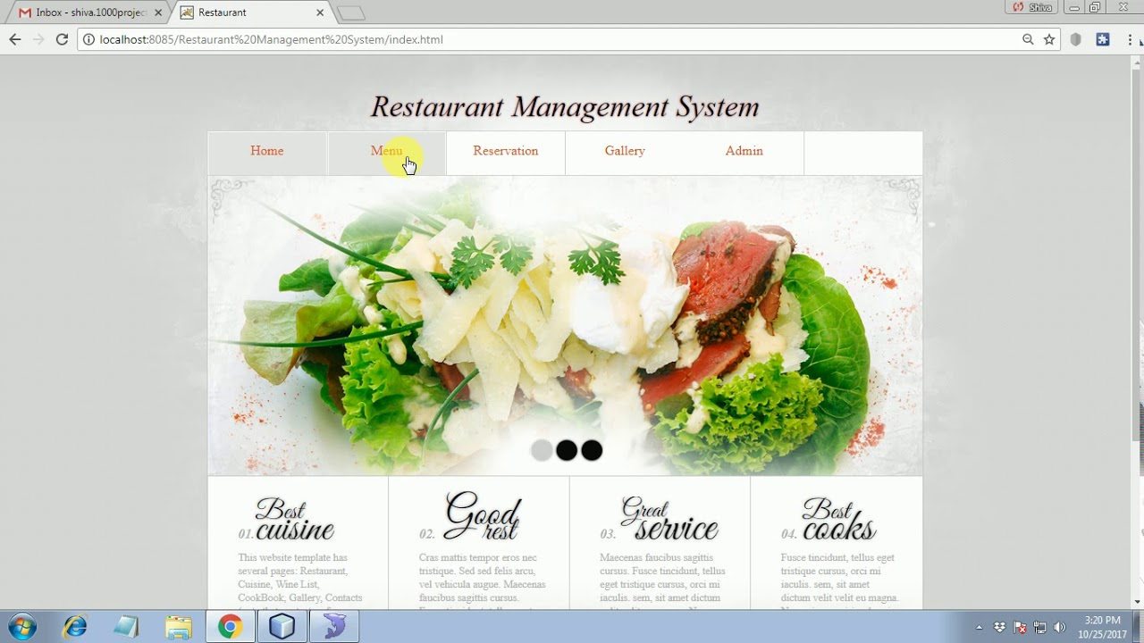 Restaurant management system java project youtube restaurant management system java project forumfinder Choice Image