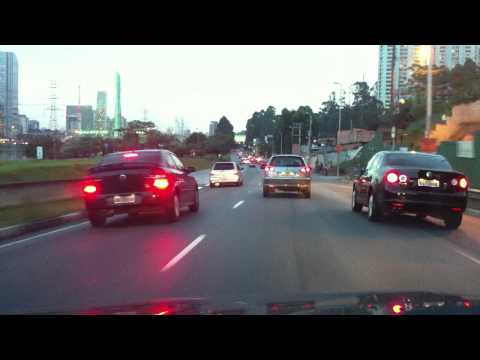 São Paulo - Brazil - Driving on the marginal Pinheiros Drive