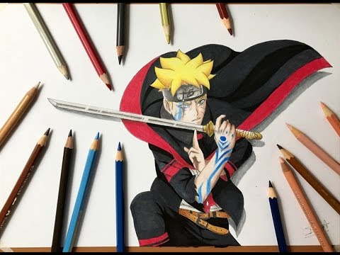 Speed Drawing - Boruto Uzumaki Tenseigan (Boruto: Naruto Next Generation) [HD]