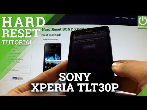 Hard Reset SONY Xperia T LT30p - Erase all data by Factory Reset