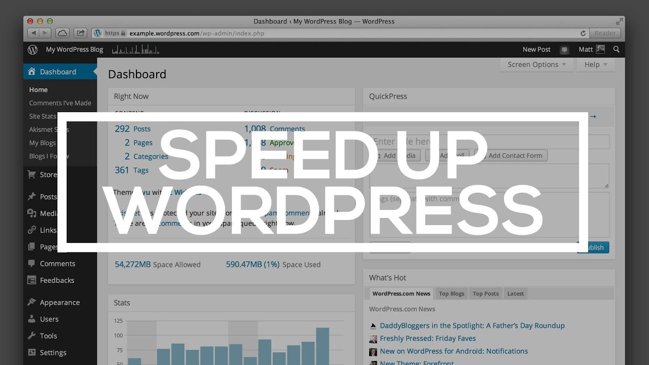 How to Speed Up Your WordPress Site - YouTube