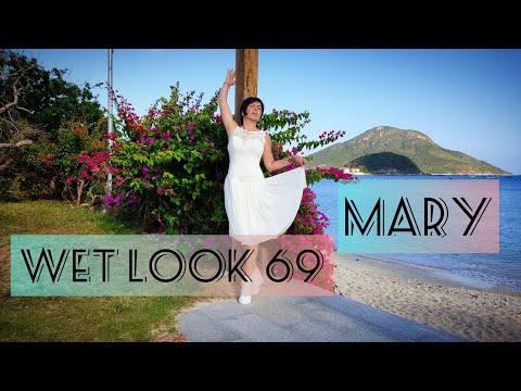 Wetlook 69 Marina in a wedding dress