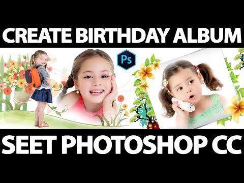 How To Create Birthday Album Seet Photoshop CC In Hindi Art Balaghat