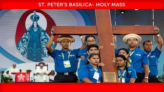 Pope Francis – Holy Mass – handing over of the WYD Cross2020-11-22