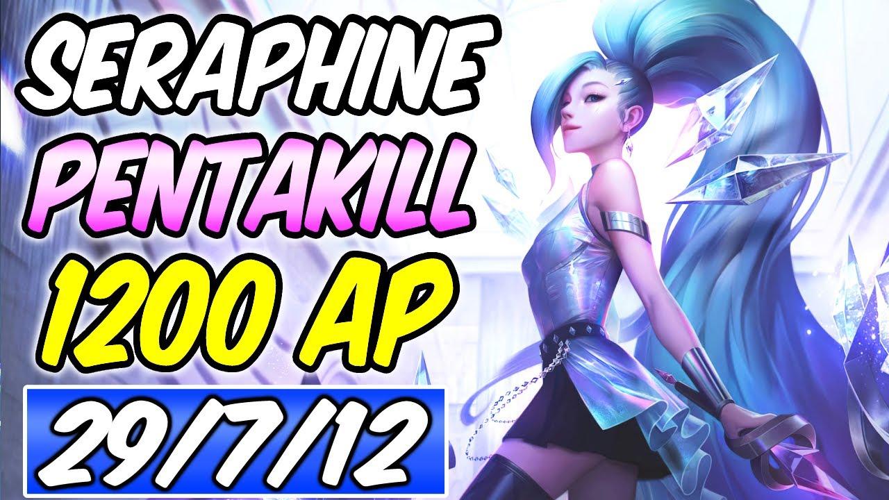 S+ 1200 AP SERAPHINE MID PENTAKILL 93% K.P - RIFTMAKER CONQUEROR BUILD & RUNES - | League of Legends