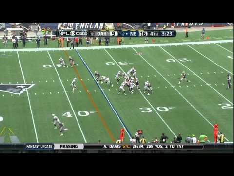 Matthew Slater Punt-Return Tackle vs. Raiders