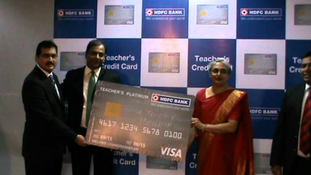 Hdfc bank teachers credit card youtube reheart Images