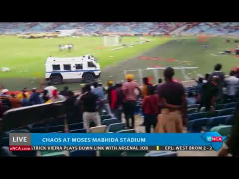 Chaos at Durban's Moses Mabhida stadium