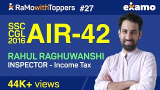 RwT E27 - Rahul Raghuwanshi (Income Tax Inspector SSC CGL 2016) Full Interview with RaMo (#SSCCGL)