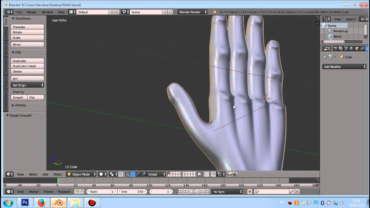 Blender 3d Hand ~ Fps hand d model made in blender free download youtube
