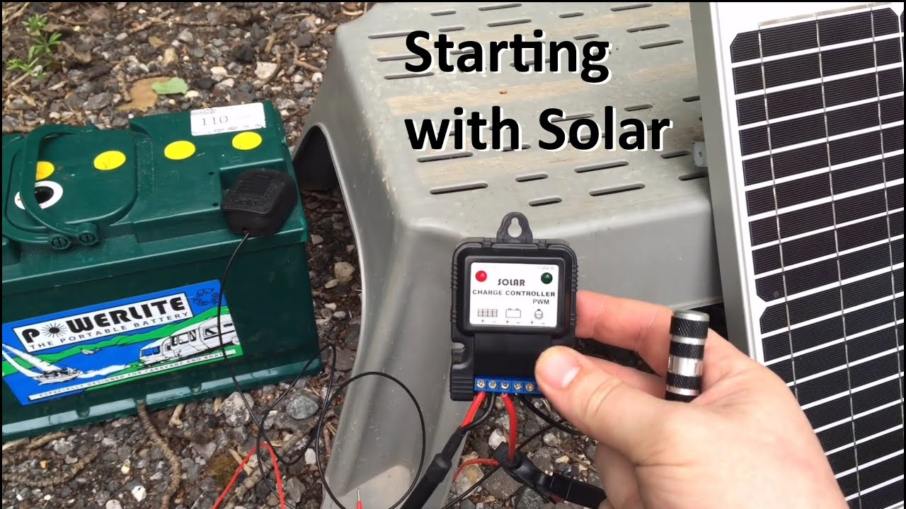 Starting With Solar Maintaining Your Caravan Battery In Storage Wiring 12v Shed Youtube