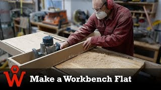 Flatten a Workbench with a Router