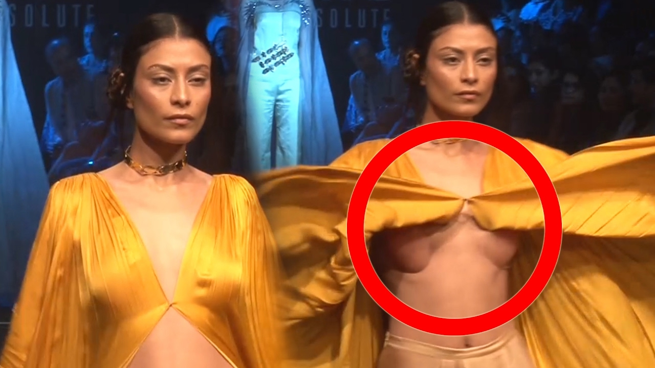 Shocking Indian Model Wardrobe Malfunction At Lakme -8946