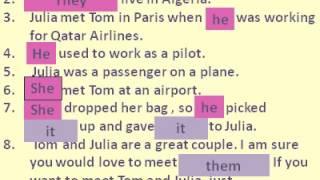 تعلم اللغة الانجليزية - فيديو 8 - Object Pronouns