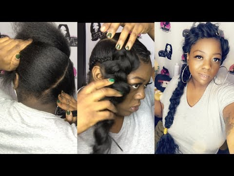 Butterfly Braid Natural Hair