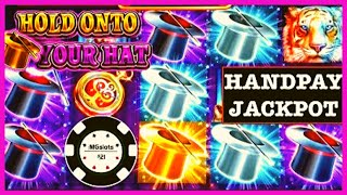 🔒HANDPAY JACKPOT ON LOCK IT LINK HOLD ONTO YOUR HAT 🔒 SLOT MACHINE HIGH LIMIT SLOT PLAY