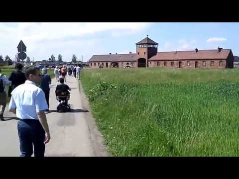 Before entering the former Concentrationcamp of Birkenau