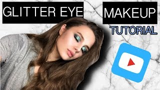 BLUE GLITTER EYE | MAKEUP TUTORIAL