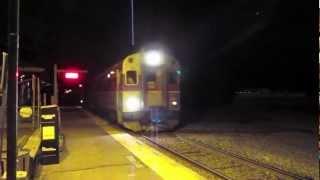MBTA Double Set with Tropicana Car, Walpole MA.