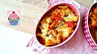 Einfacher Nudel - Tomate - Mozzarella Auflauf mit Penne/ Sehr lecker!