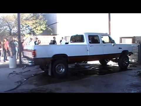 First Gen Crew Cab Cummins Powered Dodge Ram On The Dyno