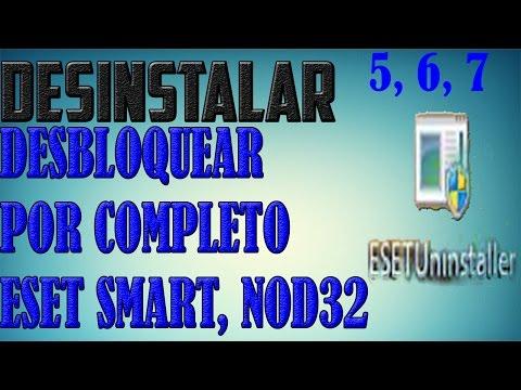 Como Desinstalar Y Desbloquear El Error Por Completo De Eset, Smart, Nod32 , 5,6,7,8,9 TUTORIAL