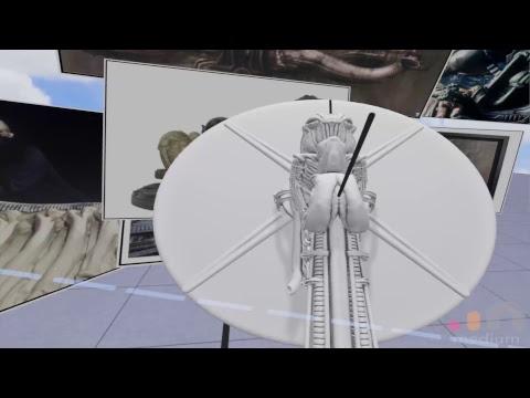 VR Sculpting - Space Jockey (Alien) in Oculus Medium #4