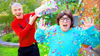 STEPHEN SHARER PRANKED ME HACKING SHARE THE LOVE MERCH STORE!! (Confetti Surprise)