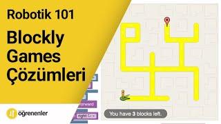 Kodlama 101 - Blockly Games tüm çözümleri