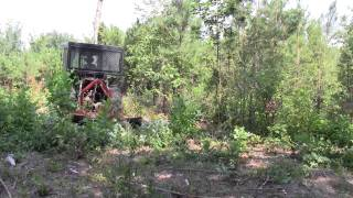 Tractor Mounted Brown Tree Cutter at the Jerry Clark Farm