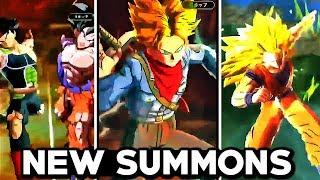 NEW LEGENDS SUMMON ANIMATIONS! DBS Future Trunks & SSJ3 Goku Dragon Fist (Dragon Ball Legends)