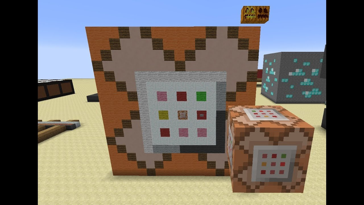 Minecraft Mega Blocks  Ep 6 Command Block Pumpkin and Jacko