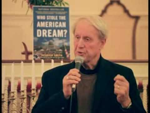 Hedrick Smith at the Peterborough Unitarian Church Discussing The Loss of The American Dream