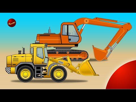 Строим дом. Дорожно строительная техника. Развивающий мультфильм про машинки.