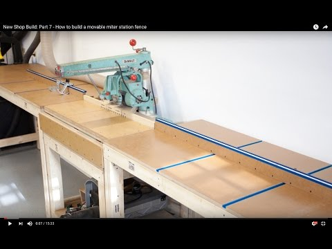 New Shop Build: Part 7 - How To Build A Movable Miter Station Fence