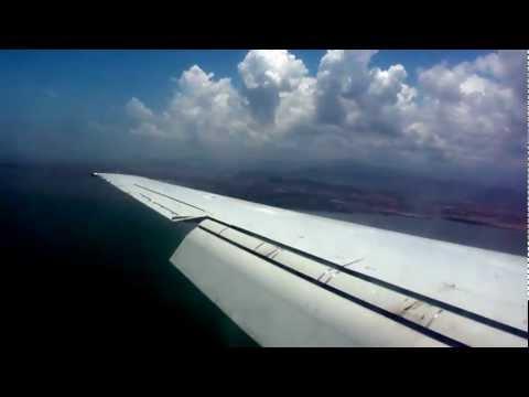 Aserca vuelo OCA970 aterrizando en Barcelona, Venezuela.