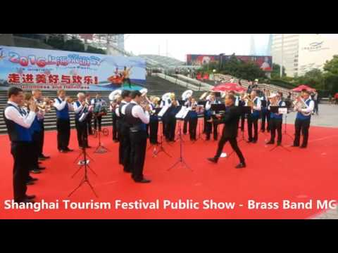 2016 Shanghai Tourism Festival public show-Brass Band MG Oberrüti, Switzerland-4