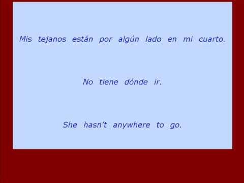 english to spanish translation sentences