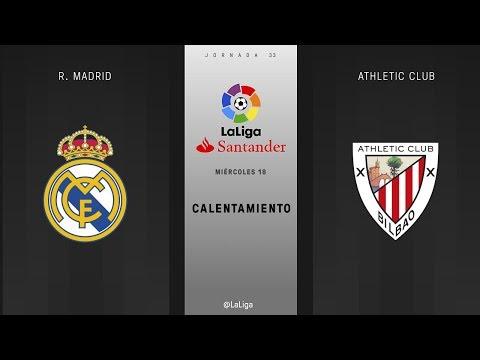 Calentamiento r. madrid vs athletic club