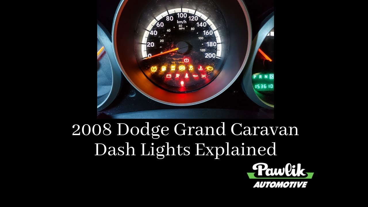 2008 Dodge Grand Caravan - Dash Lights Explained