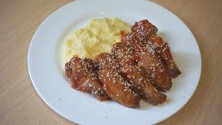 Крылышки в кисло-сладком соусе! Самый простой и вкусный рецепт!!!